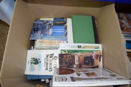 BOX CONTAINING BOOKS INCLUDING LARGE AA ATLAS