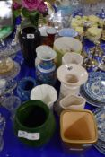 CERAMIC ITEMS, MAINLY VASES