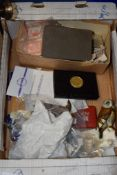 BOX CONTAINING PLAYING CARDS ETC