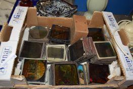 BOX CONTAINING MAGIC LANTERN SLIDES