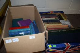 TWO BOXES OF BOOKS, VARIOUS TITLES, INCLUDING 2 VOLS OLD ENGLAND PICTORIAL MUSEUM EDITED BY