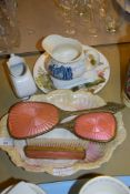 CHINA WARE ITEMS AND DRESSING TABLE SET