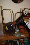 OLD SHIP'S BELL HMS ARLINGHAM 1953 AND OTHER ITEMS OF METAL WARES