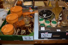 TWO BOXES OF VARIOUS CHINA AND KITCHEN WARE