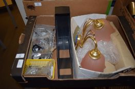 BOX CONTAINING WALL LIGHTS AND OTHER FITMENTS