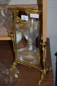 SMALL BRASS DRESSING TABLE MIRROR