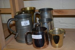 GROUP OF PEWTER TANKARDS