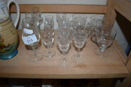 COLLECTION OF SMALL SHERRY GLASSES