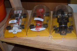 THREE MODELS OF RACING CARS PRODUCED BY POLISTIL ITALY