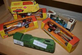 COLLECTION OF CORGI TOYS INCLUDING SMALL RAILWAY ENGINE