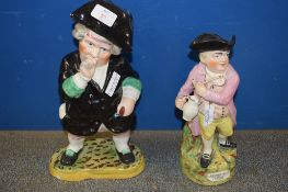 TWO STAFFORDSHIRE TOBY JUGS, ONE OF JOLLY TOBY, THE OTHER OF A TOPER