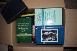 """BOX OF BOOKS, VARIOUS TITLES INCLUDING EVELYN WAUGH """"DECLINE AND FALL"""""""