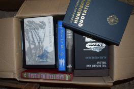 BOX OF BOOKS, VARIOUS TITLES INCLUDING DICTIONARY OF HUMOROUS QUOTATIONS