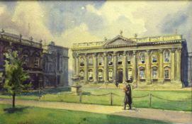 Wilfred Pettitt, Cambridge scenes, pair of watercolours, both signed, 17 x 26cm (2)