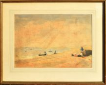 "Thomas Smythe, ""Old Felixstowe"", watercolour, signed lower right, 30 x 44cm. Provenance: Mandell's"