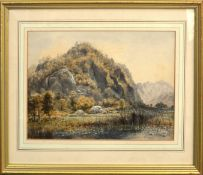 """Parsons Norman, """"Shepherds Crag from the meadows at Lodore"""", watercolour, signed lower left, 24 x"""