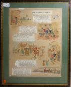"""D H Parry Jnr, """"The Barber Surgeon"""", two watercolour illustrations, one signed, 42 x 32cm (2)"""