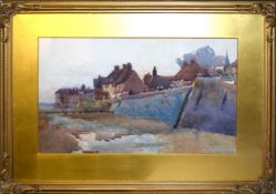 Hubert Coop, Coastal scene, possibly Isle of Man, watercolour, signed lower right, 30 x 51cm