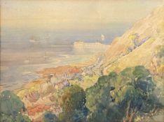 "Sister Holloway,""Mumbles, near Swansea"", watercolour, inscribed verso, 24 x 31cm"