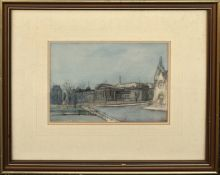 Scottish School (20th century), High School, Dundee, watercolour, indistinctly signed and