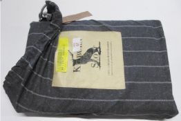 August Grove Roger Brushed Cotton Duvet Cover Set, Size: Double - 2 Standard Pillowcases, RRP £47.