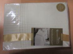 Three Posts Allston 144 TC Duvet Cover Set, Colour: Cream, Size: Kingsize - 2 Standard