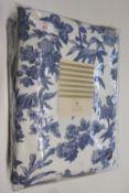 Oasis Home Amelia Eyelet Room Darkening Curtains, Colour: Indigo, Size per Panel: 168 W x 229 D