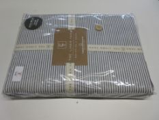 Mack + Milo Rex Percale Duvet Cover Set, Size: Double, Colour: Grey, RRP £32.99