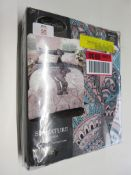 Latitude Vive Geri Percale Duvet Cover Set, Colour: Purple, Size: Single, RRP £14.99