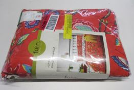 Bay Isle Home Hawes Duvet Cover Set, Size: Double - 2 Standard Pillowcases, Colour: Orange, RRP £