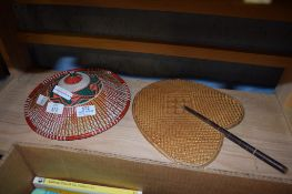 STRAW HAT AND FAN