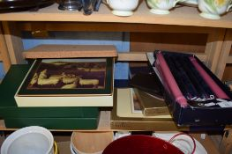 BOX WITH VARIOUS CANDLES AND COASTERS