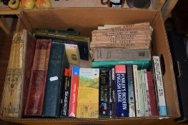 BOX OF BOOKS INCLUDING FRANCO-PRUSSIAN WAR AND SIR WALTER SCOTT'S NOVELS IN PAPERBACK