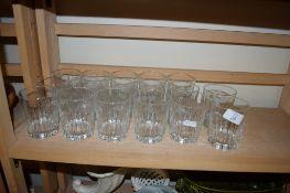 CUT GLASS TUMBLERS