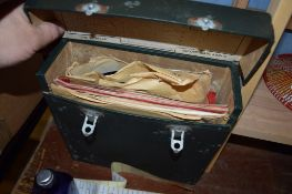 BOX CONTAINING OLD RECORDS