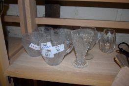 COLLECTION OF GLASS CUPS