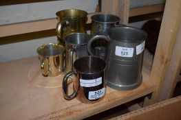 COLLECTION OF PEWTER TANKARDS