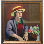 """•AR Sidney F Homer, RBSA (1912-1993), """"The Flower Seller"""", oil on board, signed lower left, 27 x"""