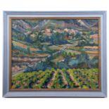 """•AR Martin Battye (born 1952), """"Veaux"""", oil on canvas, 59 x 74cm"""
