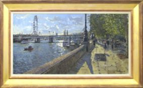 "•AR Peter Brown, NEAC (born 1967), ""Cleopatra's Needle, Embankment"", oil on canvas, signed and dated"