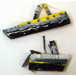 Tessa Newcomb (born 1955), two driftwood and mixed media sculptures, Boat studies, IP19141 (with