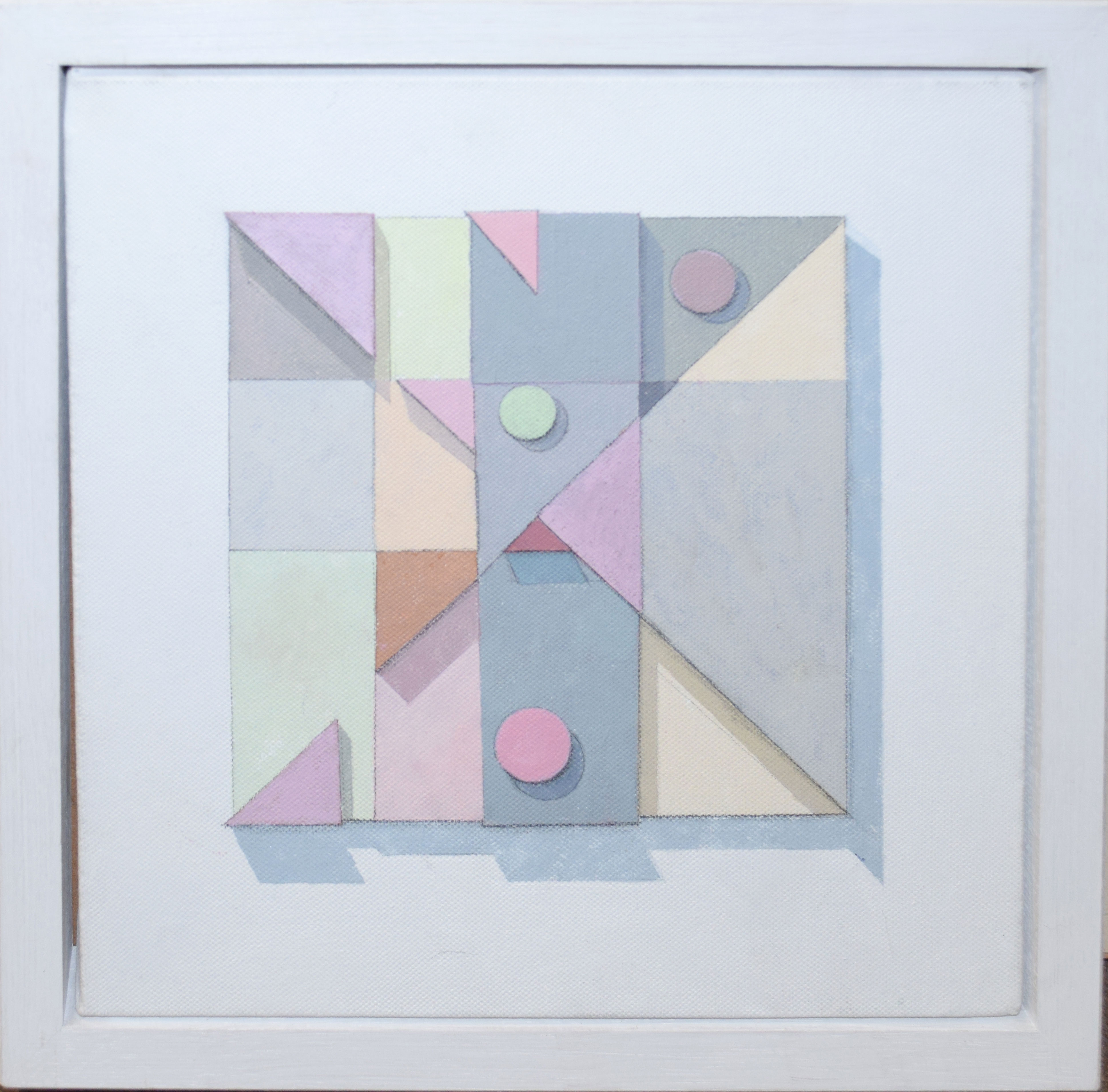 Mary Mellor, Abstract composition, oil on canvas, signed and dated 2011 verso, 30 x 30cm along