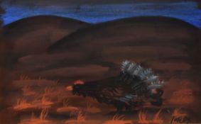 "•AR Jack Knox, RSA, RSW, RGI, (1936-2015), ""Black Cock"", pastel, signed lower right, 21 x 31cm"