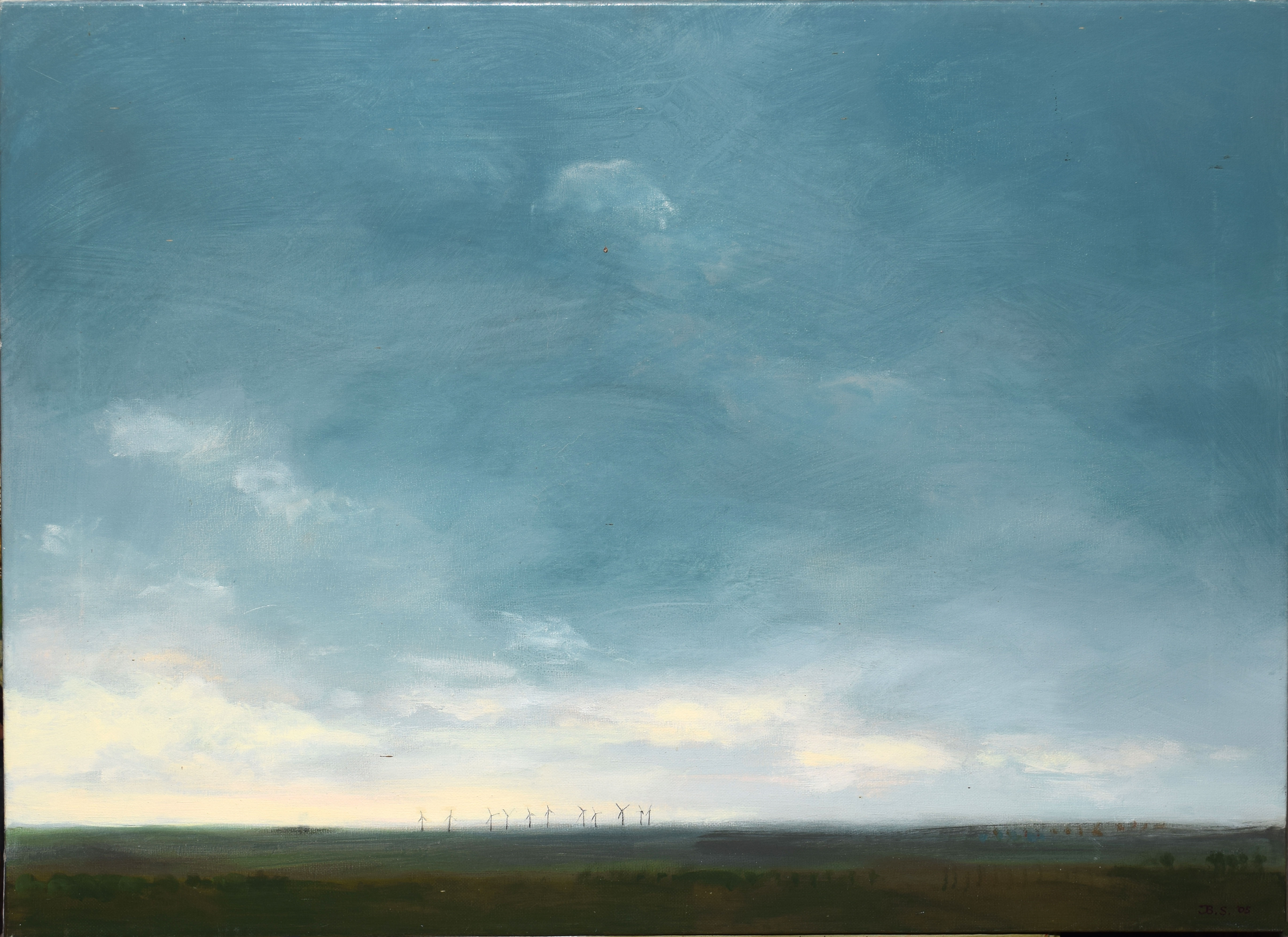 """•AR Jane Sanger (contemporary), """"From Waxham 2005"""", oil on canvas, initialled and dated 05 lower"""