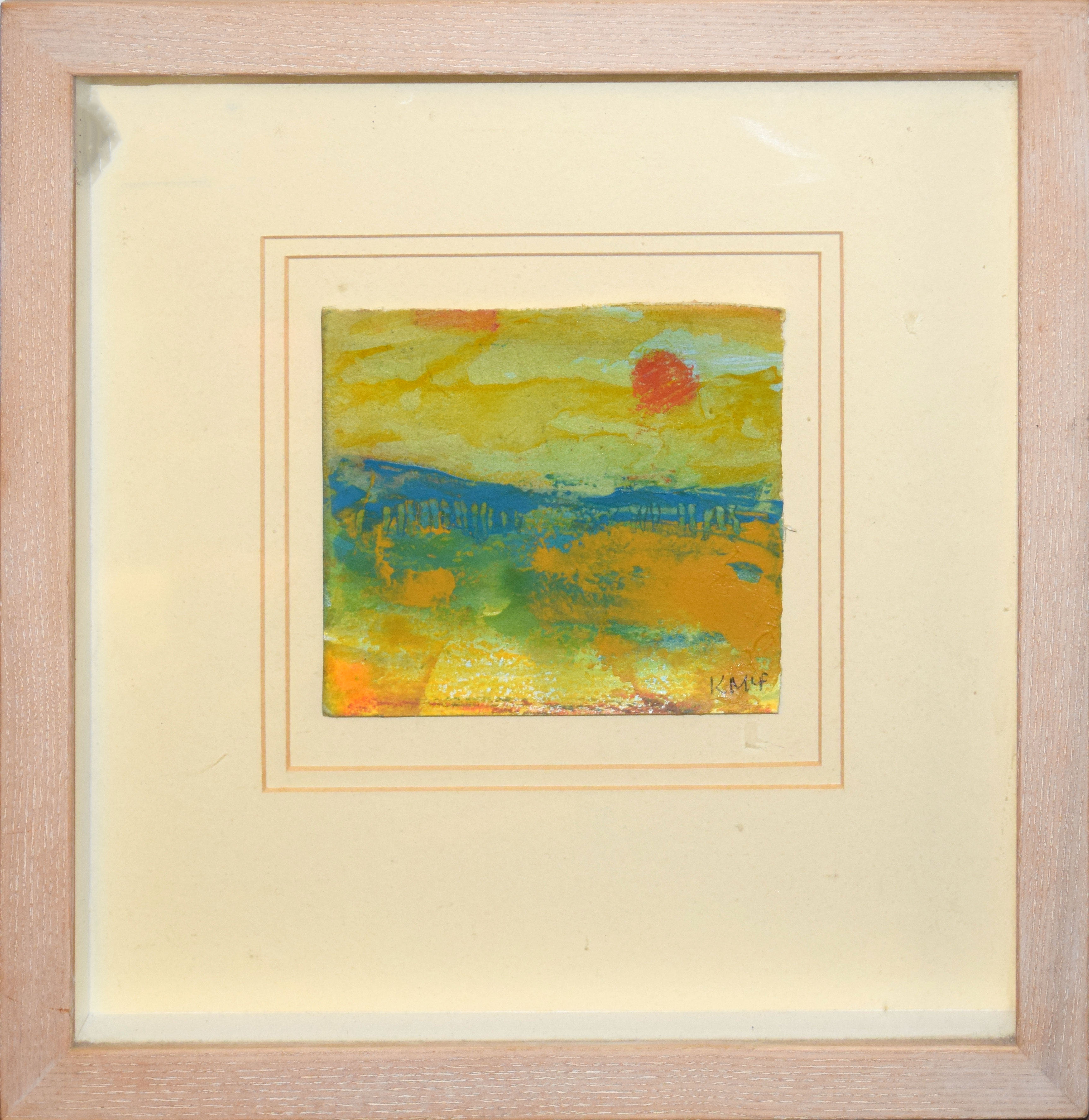 •AR Kathleen McFarlane (1922-2008), Landscapes, group of three mixed media, all signed lower - Image 3 of 3
