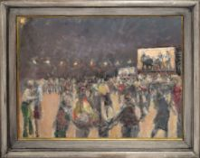 •AR Dick Lee (1923-2001), Jazz Festival, oil on canvas, signed lower right, 54 x 73cm