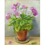 AR Alfred Richard Blundell (1883-1968), Plant in a pot, oil on panel, signed lower right