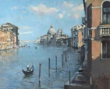 "•AR Stanley Orchart (1920-2005), ""The Salute from the Accademia Bridge, Venice"", oil on canvas,"