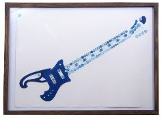 "•AR Colin Self (born 1941), ""The Blue Guitar"" (from The Odyssey Series), coloured etching, signed,"