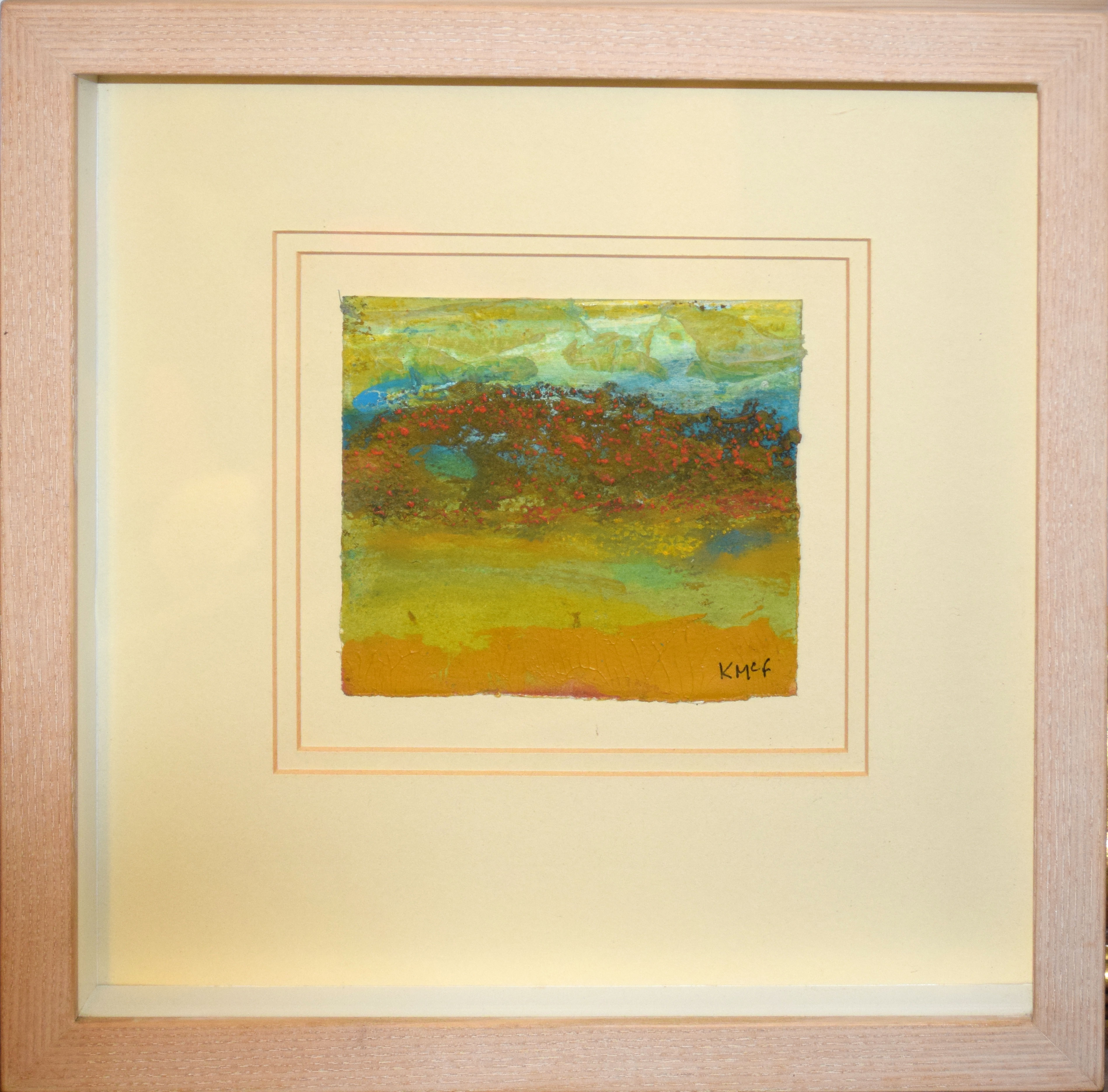 •AR Kathleen McFarlane (1922-2008), Landscapes, group of three mixed media, all signed lower